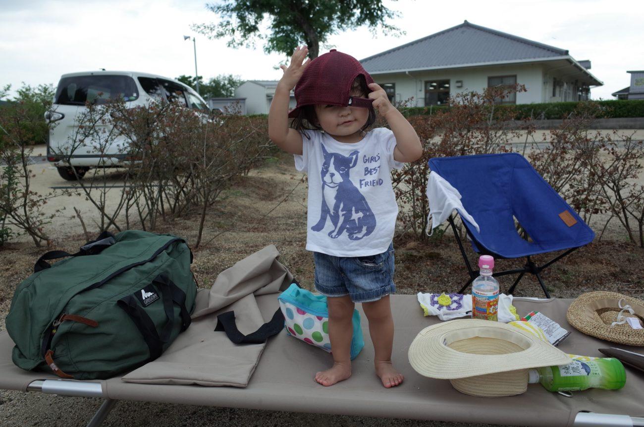 コットと2才児と荷物