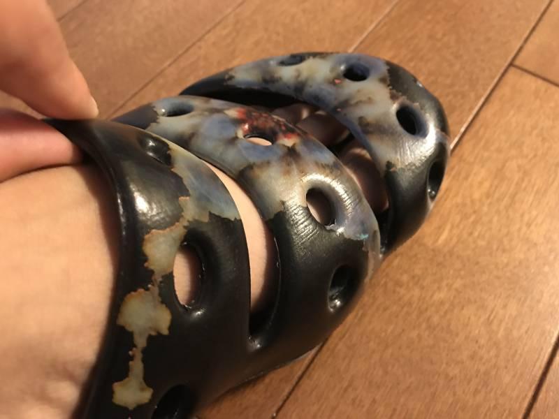 足の甲の部分