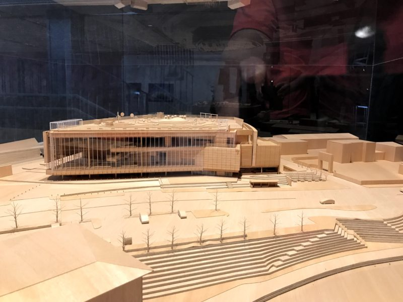 富山県美術館の模型