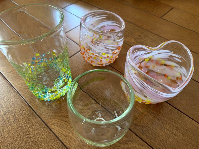 完成品の琉球グラス