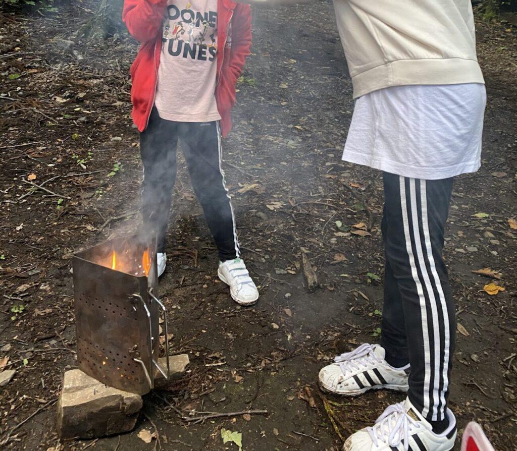 子供は火に絡みたいんです