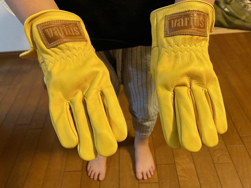 ワークマンの子供用キャンプ手袋